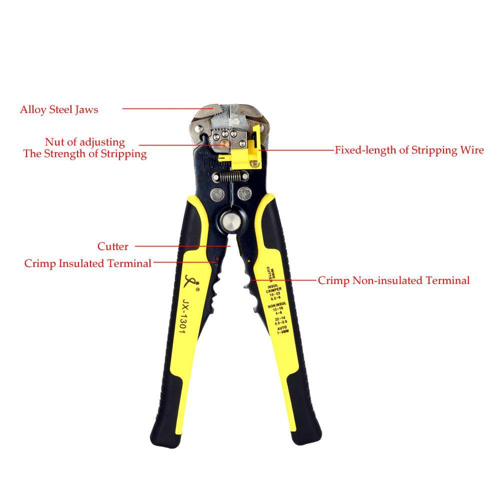 자동 케이블 와이어 스트리퍼 커터 도구 다기능 압착 도구 펜치 multitool plier multiherramienta 손 도구 ferramenta