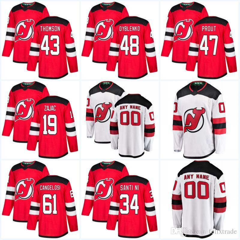 2018 New Season 19 Travis Zajac 21 Kyle Palmieri 35 Cory Schneider 1 Keith  Kinkaid 7 Brian Strait New Jersey Devils Hockey Jersey UK 2019 From  Felixtrade b5193a16a