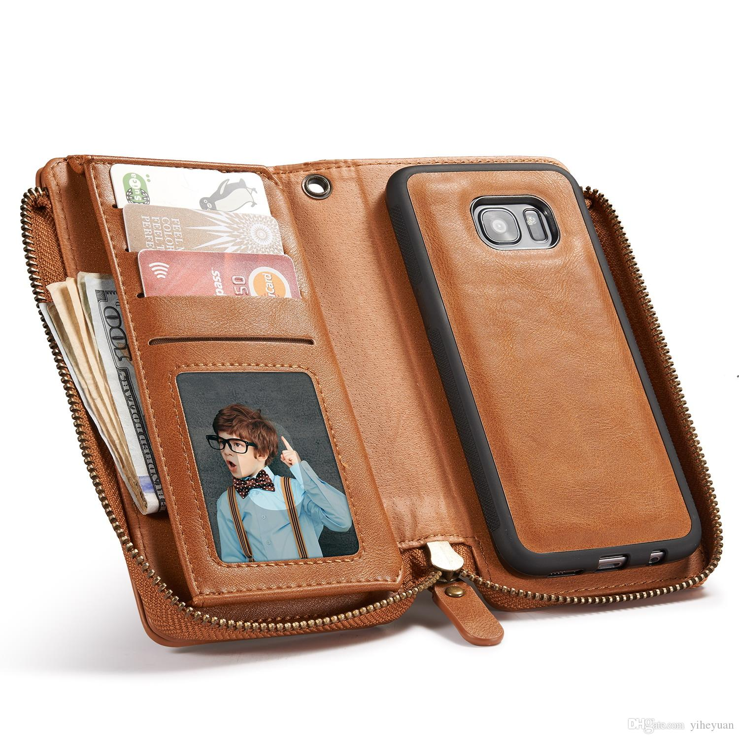 Multifunction Wallet Leather Case For Samsung S5 S6 S7 S8