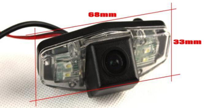 Car Camera For Honda Civic Rear View Camera / HD CCD RCA NTST PAL / Reverse Hole OEM