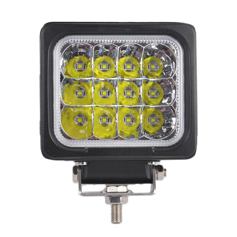 "DHL 5"" 60W CREE Chips LED Driving Work Light Square Shape 12LED*5W Offroad SUV ATV Spot Pencil / Flood Beam 6000LM 9-32V Super Bright"