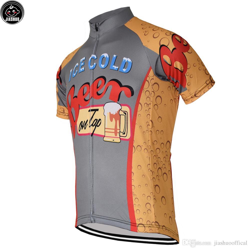 Klasyczne Ice Cold Beer New MTB Road Racing Team Bike Pro Jazda na rowerze Jersey / Koszule Topy Odzież Oddychanie Air Jiashuo