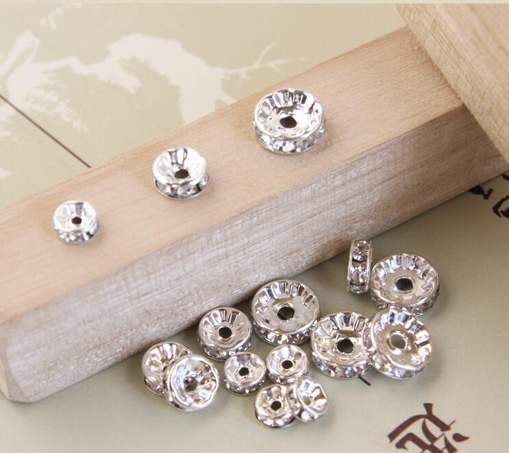 6 мм ясно горный хрусталь бусины свободные бусины Spacer DIY браслет ожерелье бусины аксессуары горный хрусталь DIY Spacer новый