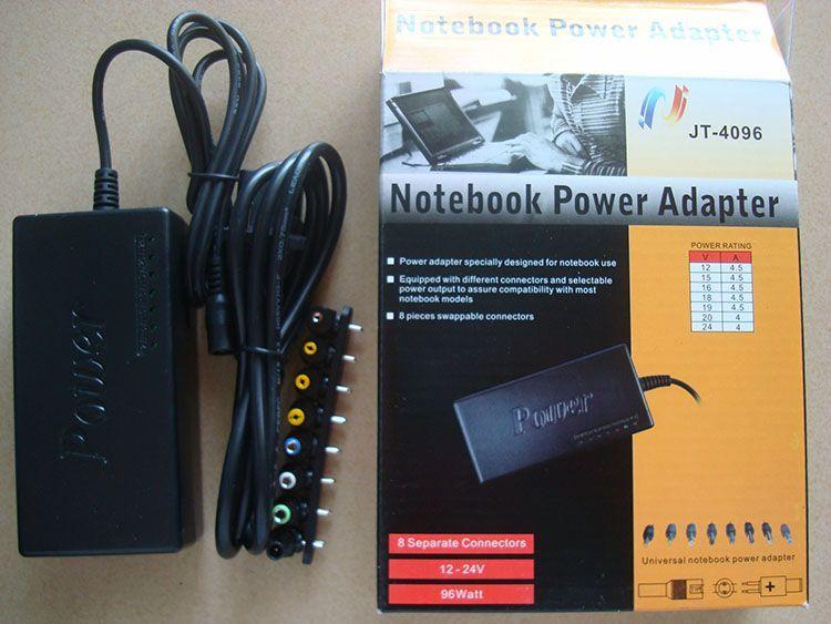 96W Universal-Laptop-Netzteil 110-220V Wechselstrom zum Adapter DC 12V / 16V / 20V / 24V für Laptop / Notebook Freies Verschiffen /