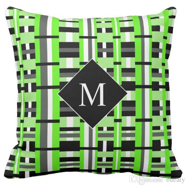 20 inch pillow cover green