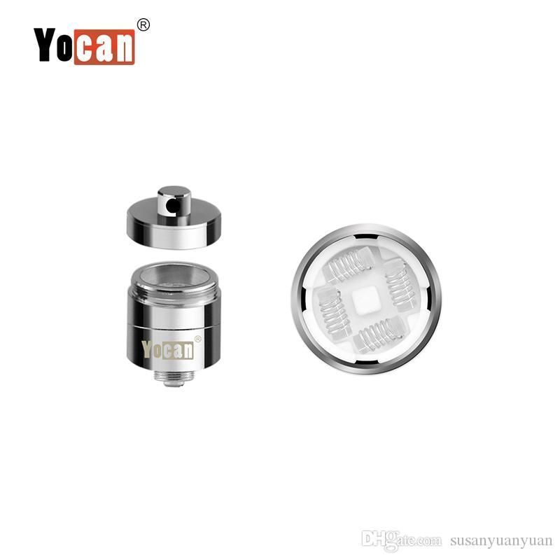 Auténtica Yocan Evolve Plus XL cera QUAD bobina Quad Quatz varillas de la bobina con bobina Cap para Evolve Plus XL Dab Pen Kit