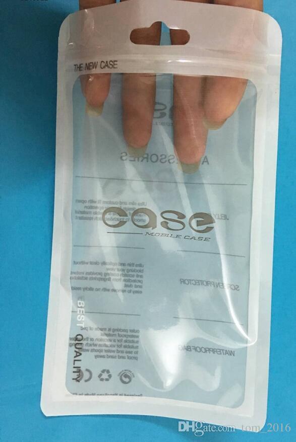 12 * 21cm blanc ziplock accessoires pour téléphone mobile écouteurs Sac à provisions d'emballage OPP PP PVC Poly sac d'emballage en plastique