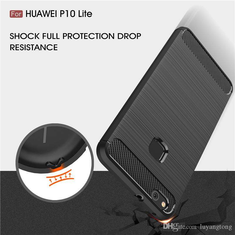 Casing for Huawei P10 Lite Case Soft Cover Carbon Fiber Texture Brushed Silicone Case For Huawei Nova Lite GR3 2017 Coque P 10