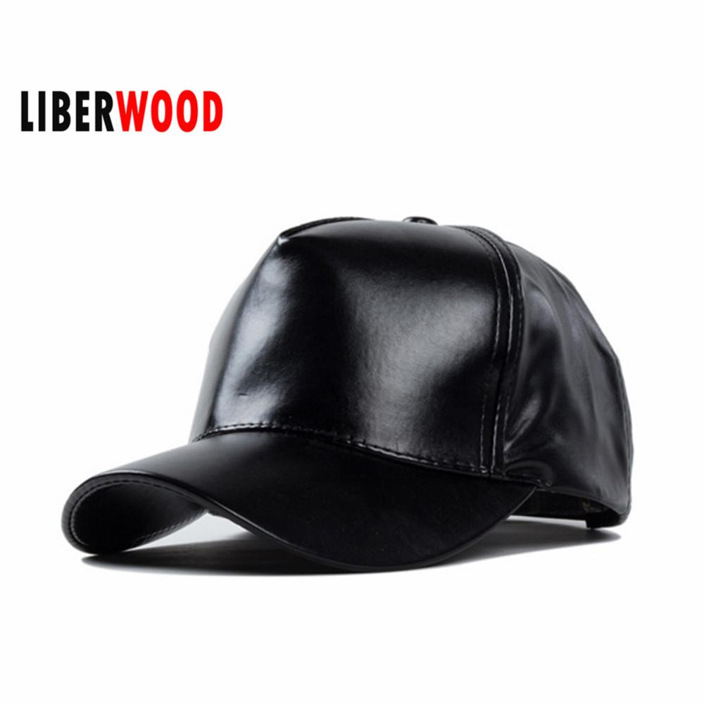 Wholesale Spring Ladies Girl Solid Color Pu Leather Cap Baseball Cap Women  Casual Sports Hat Velvet Velour Hats Strapback Snapback Black Flat Caps For  Men ... 9fe02225f00