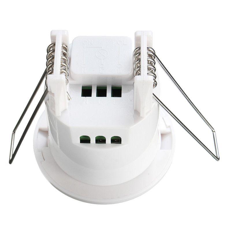 AC 220V-240V Mini Adjustable 360 Degree Recessed Ceiling PIR Infrared Body Motion Sensor Detector Lamp Light Switch 50Hz 800W