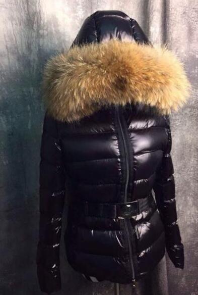 Luxo XXMoncle Marca Casacos grandes parkas de pele de guaxinim real para o inverno mulher mulheres 90% pato branco Para Baixo Parkas femal anorak mulheres casaco jaqueta