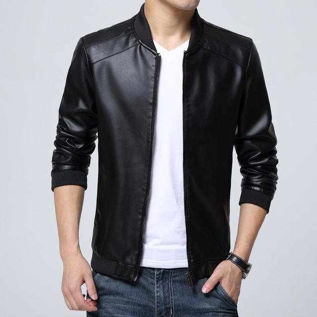 Wholesale- T cheap wholesale 2016 spring autumn new thin section men fashion casual cool slim trend PU leather jackets