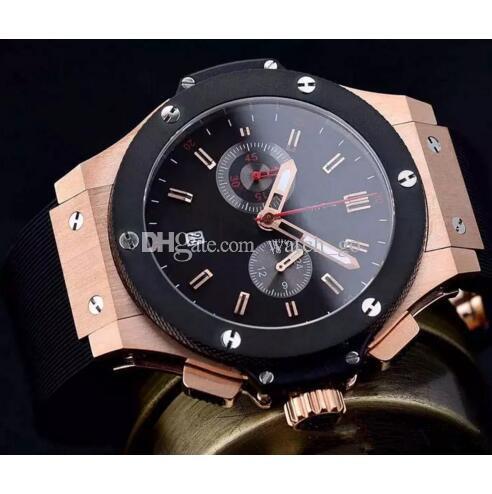 0f7869e86100 Compre Luxury Sport Reloj Para Hombre Rose Gold Titanium Black Automatic  Cronógrafo Mecánico Correa De Caucho Plegable Hebilla Auto Date Hombre  Relojes A ...