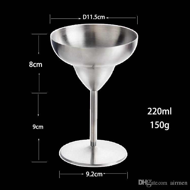 2017 New Stainless Steel Cocktail Cup, Margaret exclusive cocktail goblet, Wine cup, cup of champagne DHL FEDEX Free