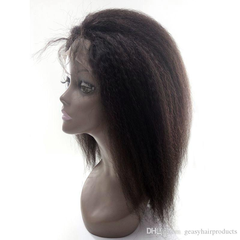 Lace Front Wigs 8-26inch Natural Hairline U Part Wigs 100% Human Hair Kinky Straight Full Lace Wigs G-EASY
