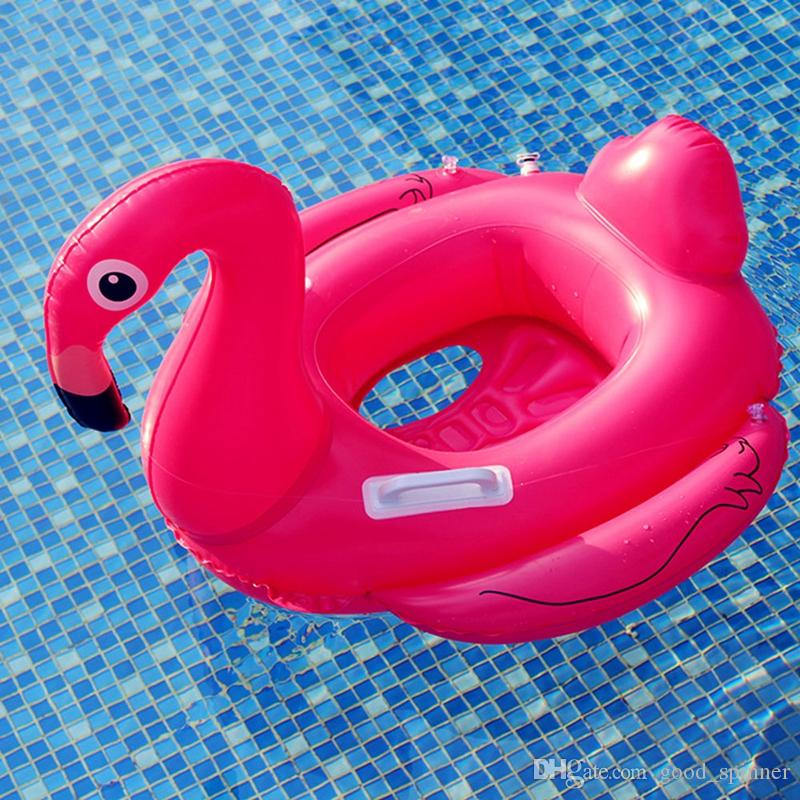 Pool Float Inflatable Flamingo Boat Swimming Ring Float Children Tube Raft Kid Air Mattresses Ring Summer Water Fun Pool Toy