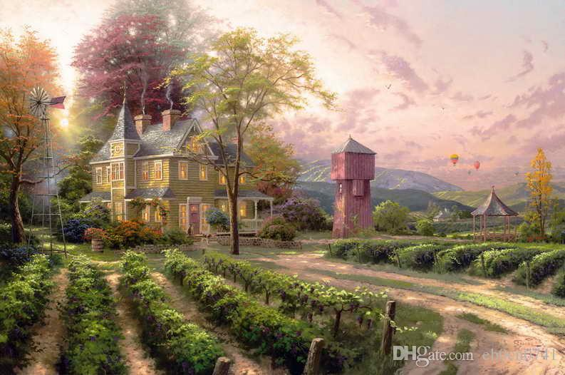 Abundant Harvest Thomas Kinkade Oil Paintings Art Wall HD Print On Canvas  Home Decoration No Frame