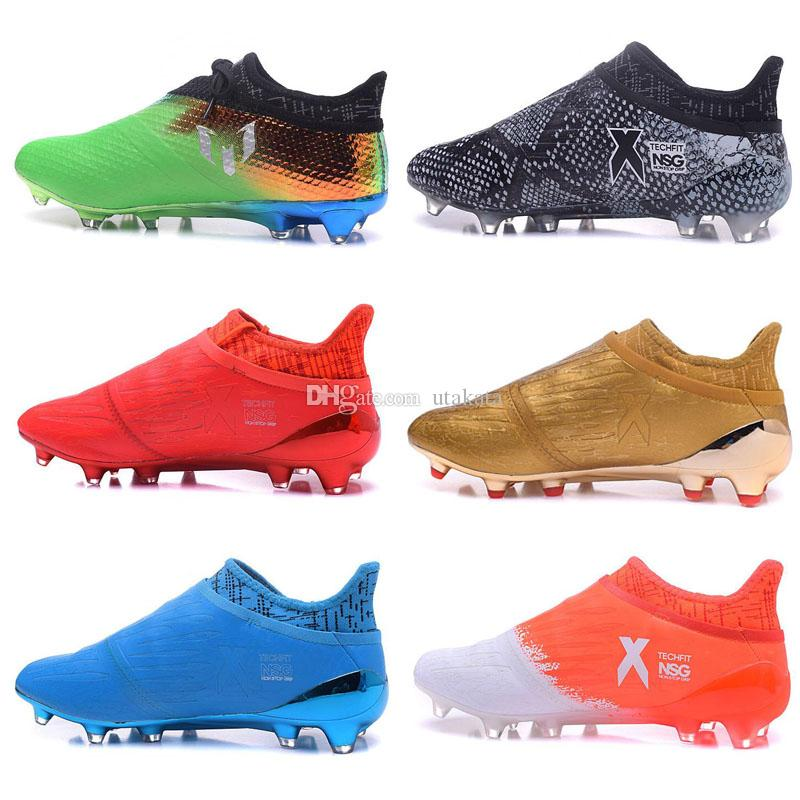sports shoes d871d 53621 Red Limit X 16 Purechaos FG Firm Ground Soccer Boots Mens High Tops  Football Boots New Soccer Shoes Cheap Soccer Cleats 2017 Wholesale