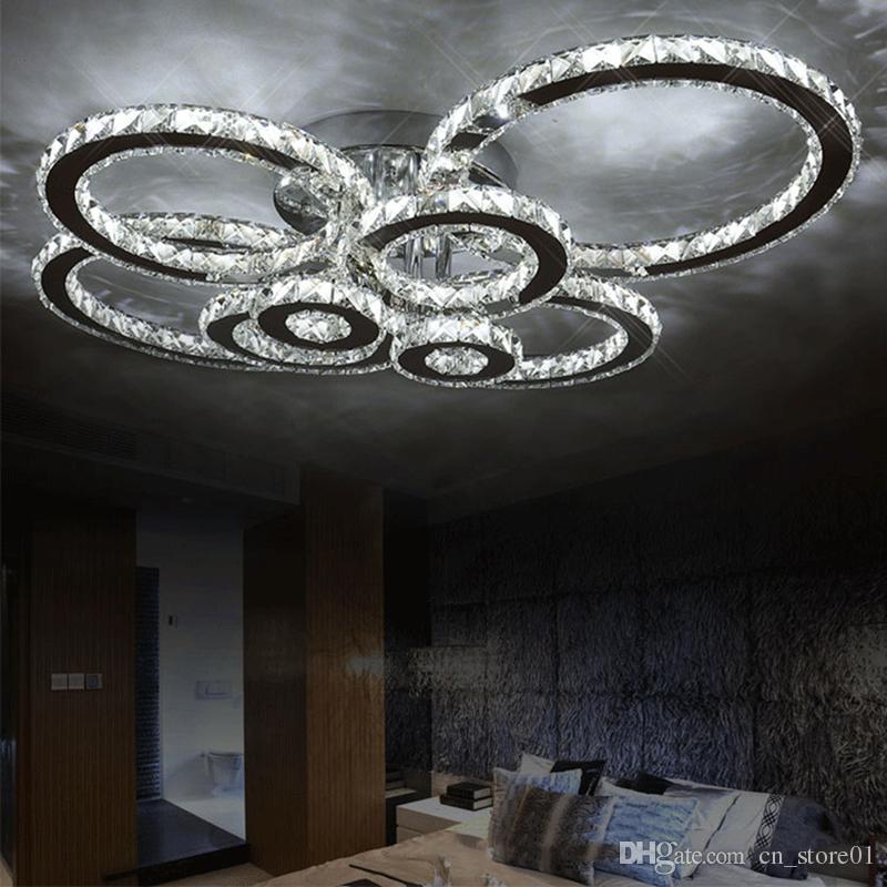 Современные светодиодные хрустальные люстры свет Круглый Круглый Люстры Люстры для гостиной, Люстры для Спальни, Столовая