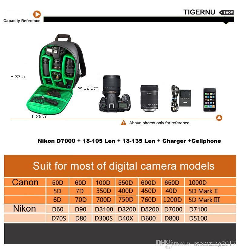 Neue Muster DSLR Kameratasche Rucksack Video Foto Taschen für Kamera d3200 d3100 d5200 d7100 Kleine Kompaktkamera Rucksack
