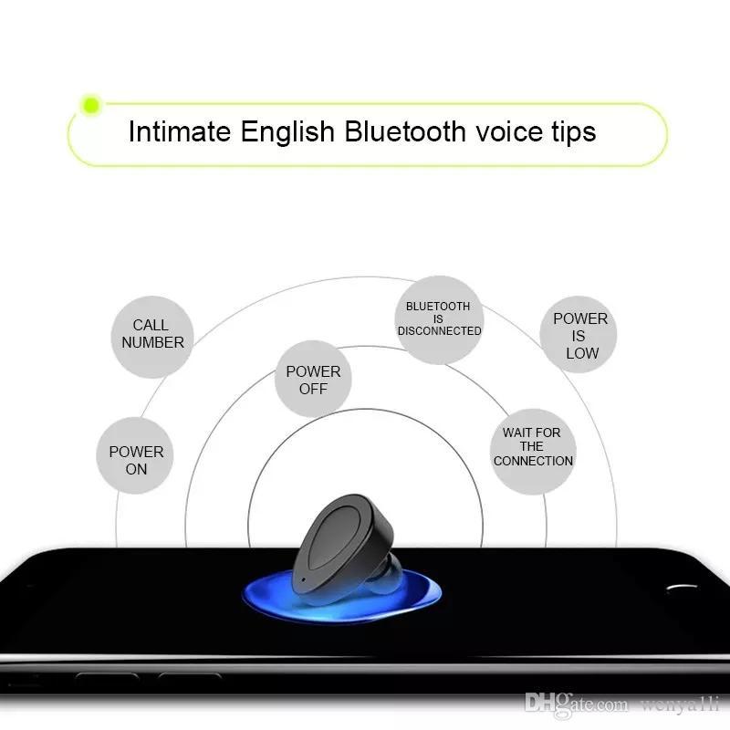 Atacado new TWS K2 Verdadeiro Fone De Ouvido Estéreo Sem Fio Bluetooth Fone De Ouvido Duplo Gêmeos Fones De Ouvido Baixo Microfone Duplo Fones De Ouvido Fones De Ouvido Caixa Carregador USB