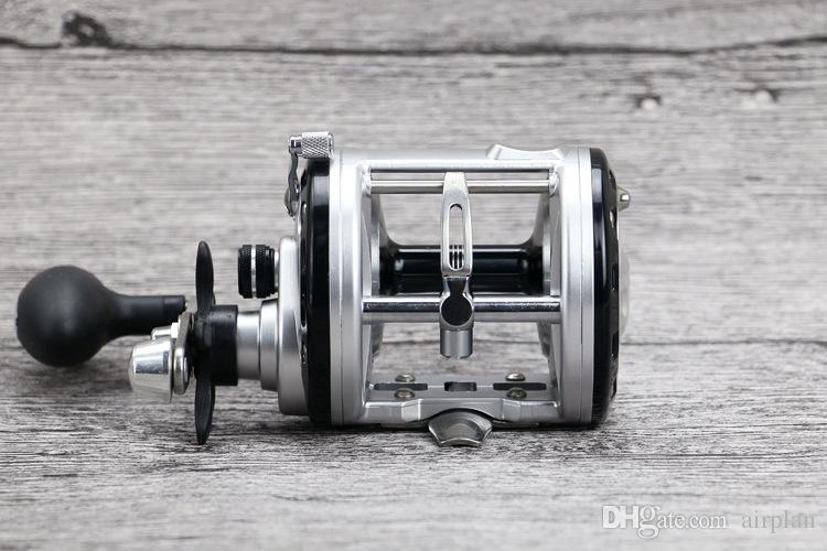 Trolling Reel Pesca Angeln 12 + 1BB Drum Rad Karpfenrollen Fliehkraftbremse Casting Meeresrolle Salzwasser Baitcastingrolle