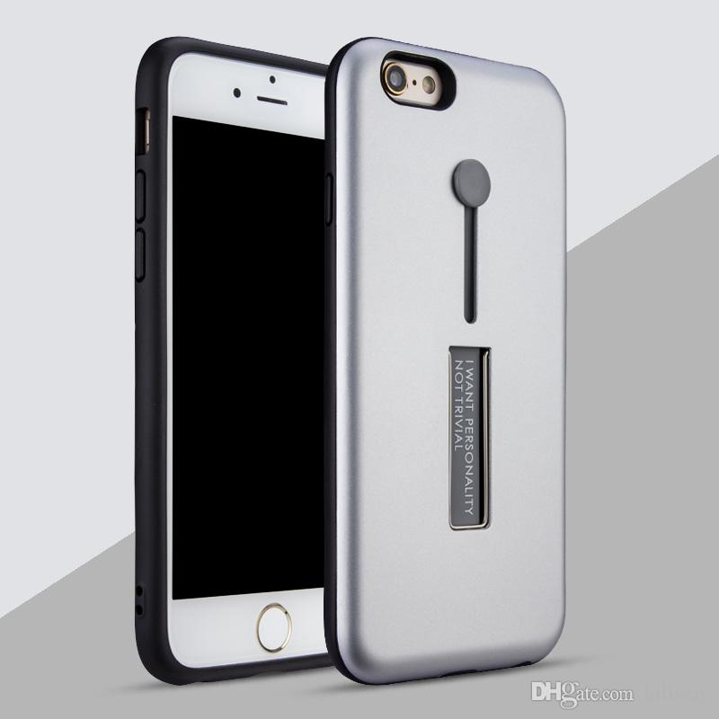 For iPhone 8 X 7 7 plus 6 6S Plus Invisible Soft holder belt Lite Business Funda Kickstand Phone Cases Skin Texture for Samsung S8 S8 Plus