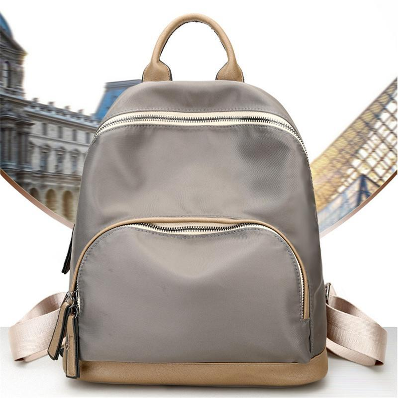 Brand Women Designer Backpacks Female Bag Wild Nylon Bag Preppy ...