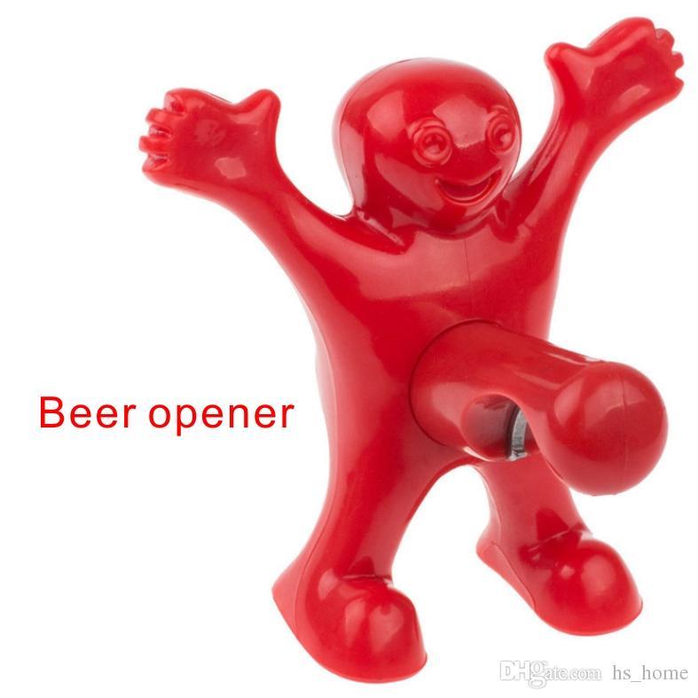 Lustiger Charakter, der Flaschenöffner, Bier-Wein-Öffner, Vakuumwein-Stopfen-Stecker 3 Arten, Stangen, Familien-Spaß-offene Flaschen-Werkzeuge modelliert.