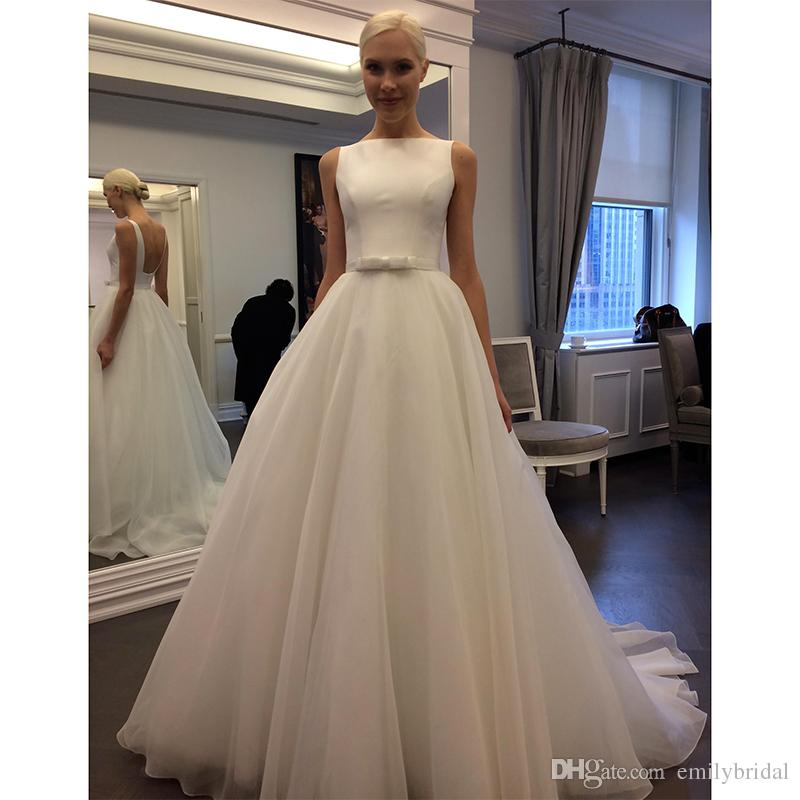 Discount Simple Style French Wedding Dresses Country A Line Modest ...