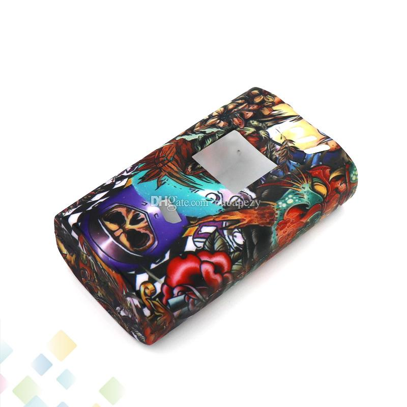 Hell Case Alien 220W Box Mod Proect Case Hell retro pattern Soft Silicone Rubber Carry Bag Cover for Alien 220 DHL Free