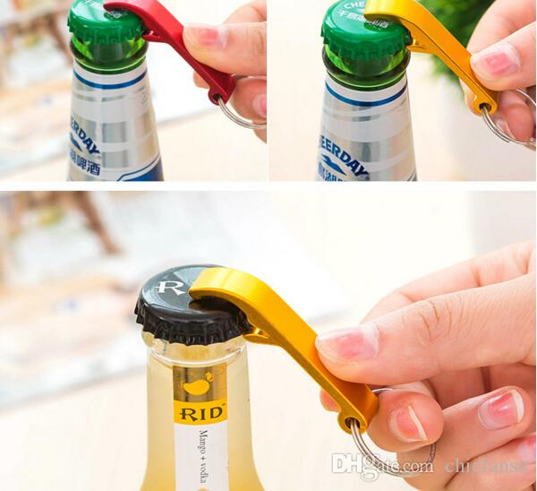 Stainless Steel Bottle Opener Wine Beer Bottle Openers Portable Keys Ring Various Colors Cool Party Supplies