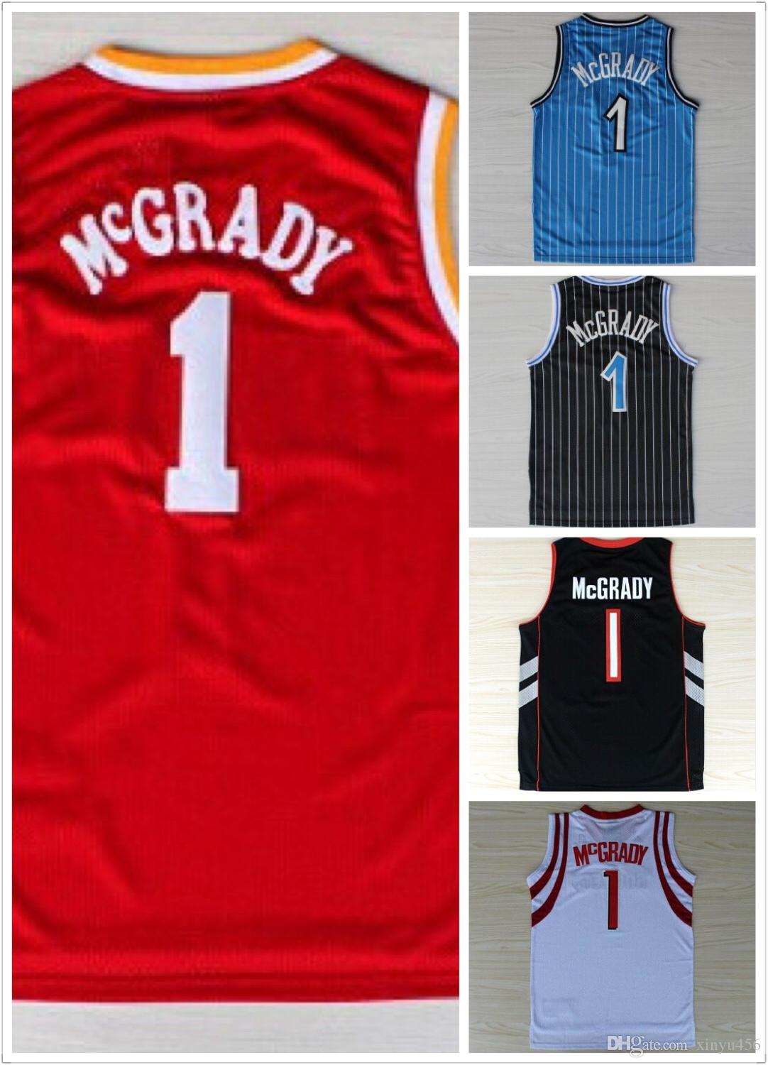 c47b6d757 2019 Hottest Men 1 Tracy McGrady Jersey Throwback Cheap McGrady Vintage  Basketball Jerseys Retro All Stitching Black Blue White Purple Red From  Xinyu456
