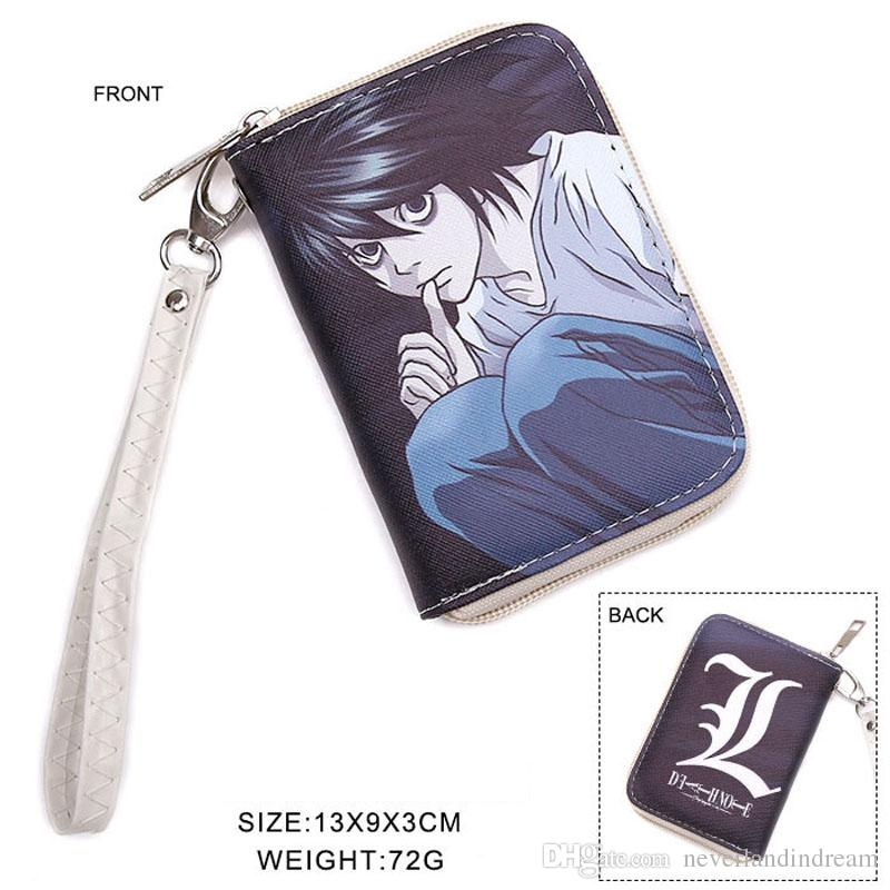 Detective Conan Anime Short Wallet Colorful Zipper Coin Purse Case Closed Cartoon Money Bag Card Holder Zero Bag