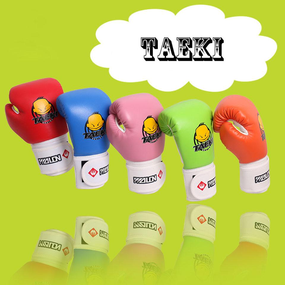 Children Cartoon Sparring MMA Kick Fight Boxing Gloves Hand Protector Red Training Protective Gear for Kids' Age 4-12