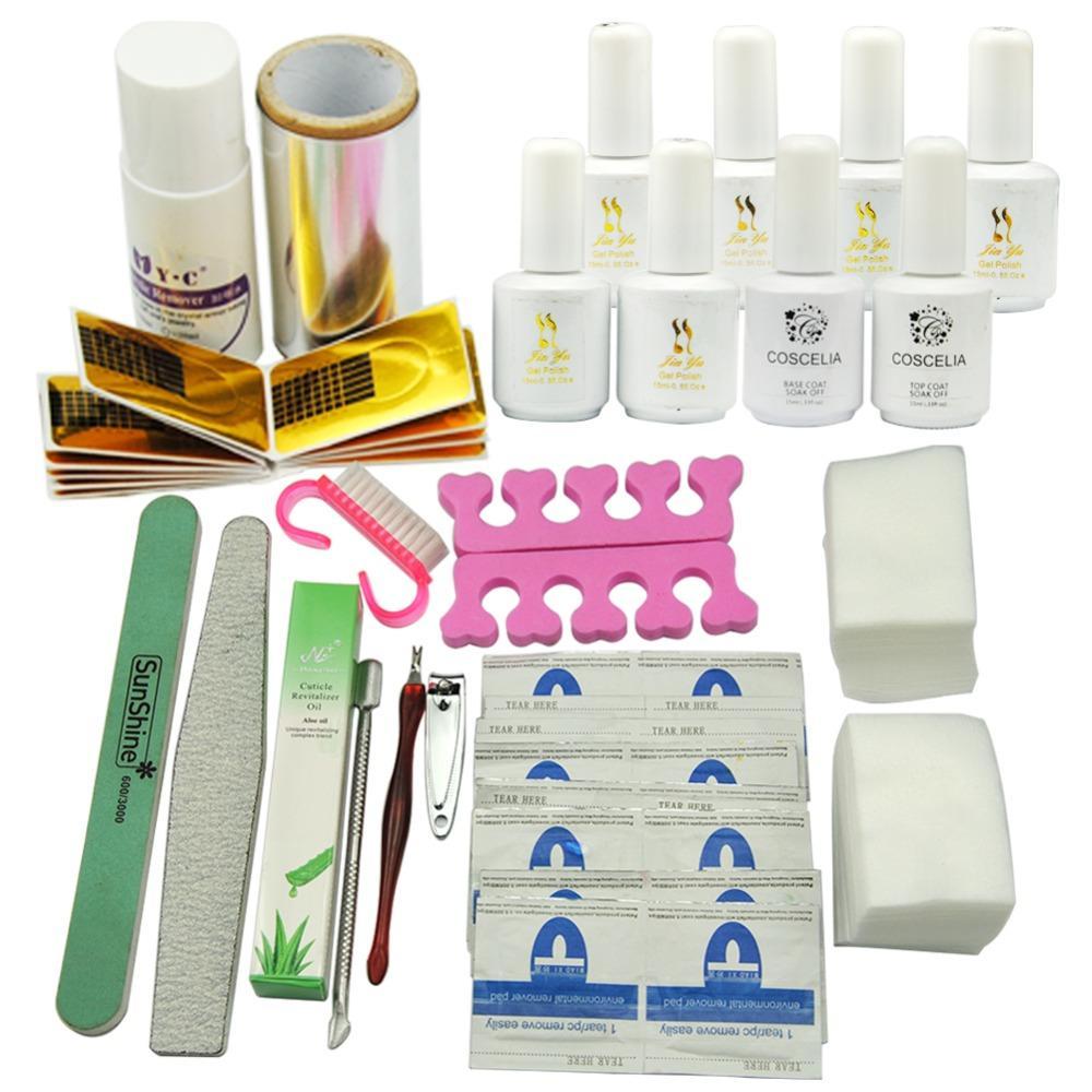 Wholesale 36w Uv Lamp Light Gel Polish Soak Off Nail Art Kit File ...