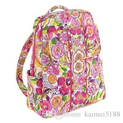 Küçük sırt çantası kampüs sırt çantası Pamuk Çiçek Okul Çantası Sırt Çantası Okul Çantası Seyahat Koleji 100% gerçek
