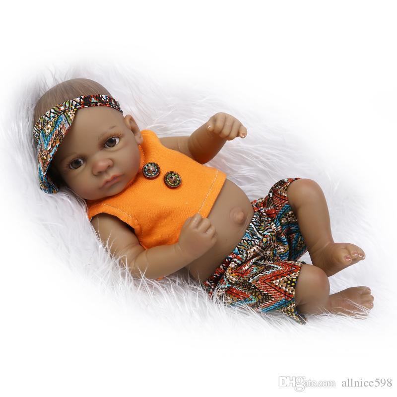 11black African American Reborn Baby Dolls Silicone