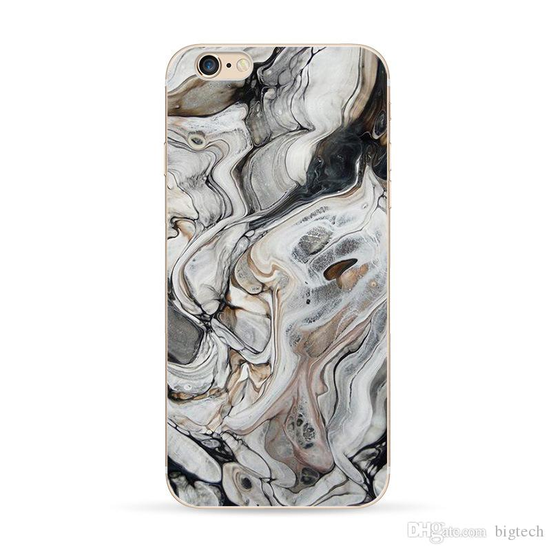 Fashion Style OEM 2D Personalized Customizd LOGO Photo Phone Case for iphone 6 6 plus Marble Pattern TPU Cell Phone Cases