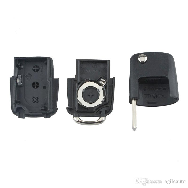 Volkswagen 3 Buttons Smart Remote Replacement Key Case No Chip with Uncut Car Flip Key for Volkswagen MK5 CIA_40L