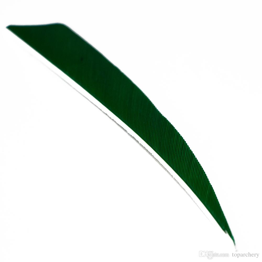 4'' Right Wing Feathers for Glass Fiber Bamboo Wood Archery Arrows Hunting and Shooting Shield