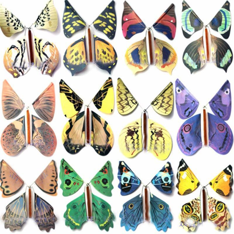 Magic Butterfly Flying Butterfly Change with Empty Hands Freedom Butterfly Magic Props Magic Tricks Color: Multicolor