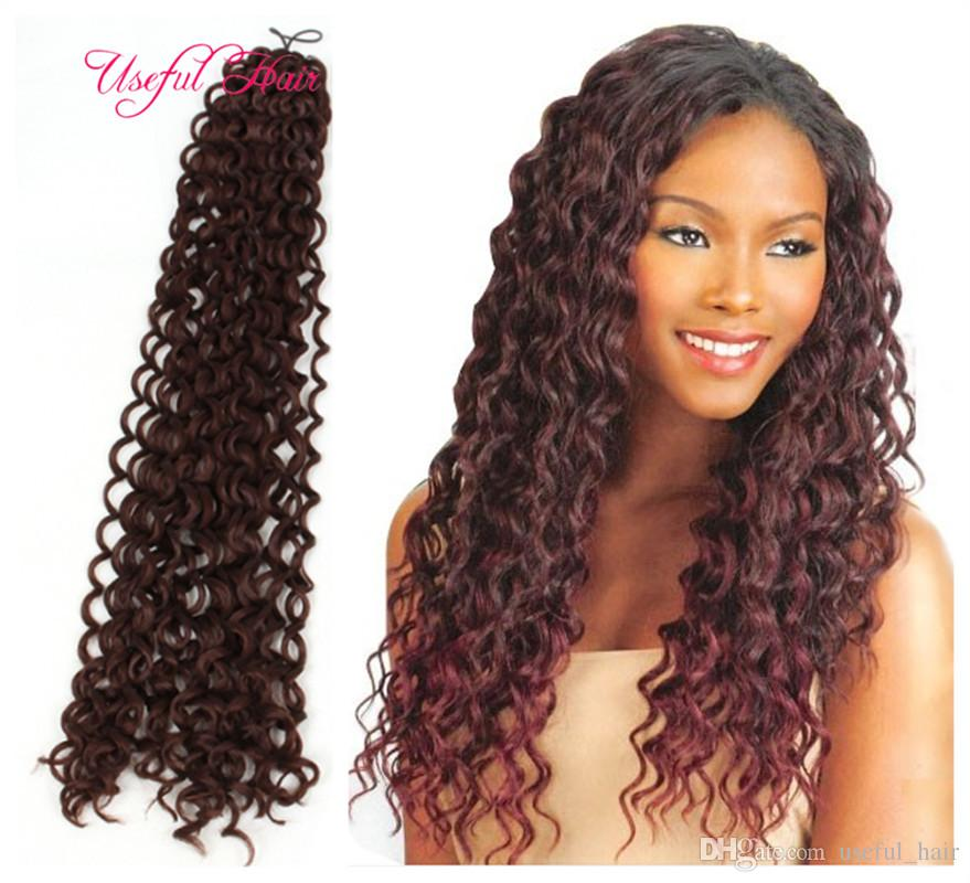 Wholesale hot sell freetress crochet braid synthetic braiding hair wholesale hot sell freetress crochet braid synthetic braiding hair 22inch water wave crochet hair extensions curly crochet braids for marley braids bulk ccuart Gallery