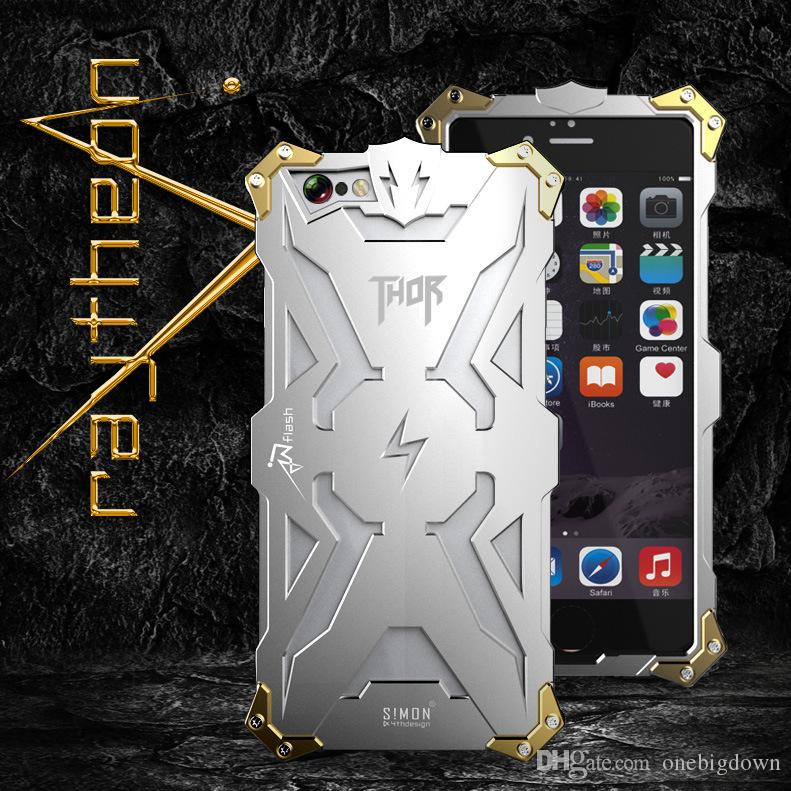 DHL Free High quality Aviation Aluminum Thor Metal Cell Phone Cases For iphone 6 6plus Iron Body Premium Case