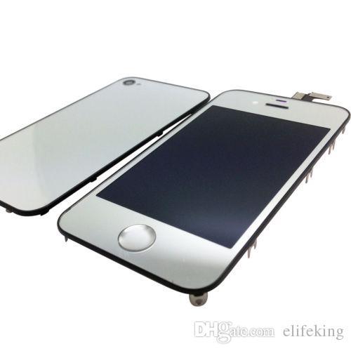 Ausgezeichnete Qualität Großhandel preis spiegel Farbe für iphone 4 4 S CDMA LCD Screen Ersatz Touchscreen Digitizer Vollversammlung