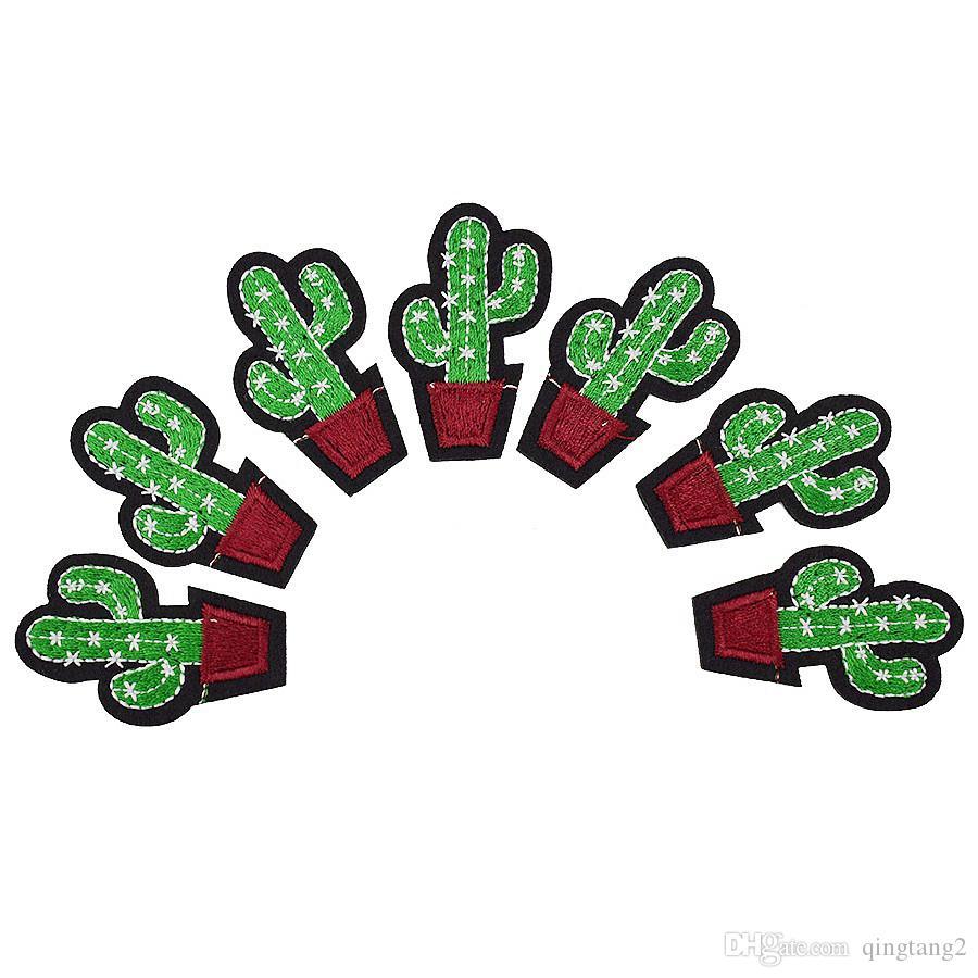 10 pezzi di cactus patch abbigliamento ferro-on patch applique ferro sul ricamo patch forniture cucire accessori adesivi distintivo sui vestiti