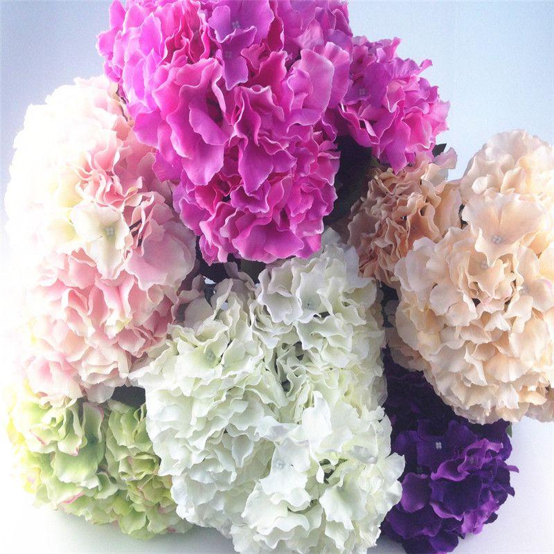 2018 Hot Aylinedo Artificial Hydrangea Silk Flower 5 Big Heads
