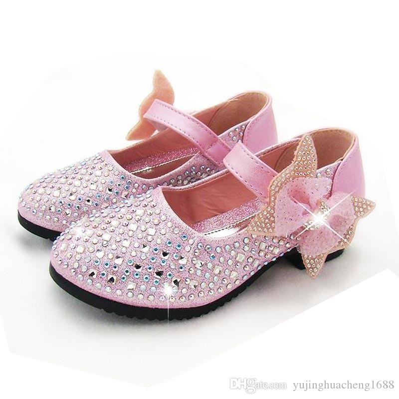 Child Kid Baby Girl Bow Party Princess Formal Shoes Shiny Leather Slip On Sandal