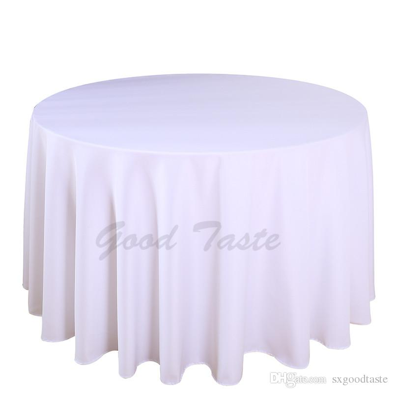 /Pack 108 Inch Round Wedding Table Cloth 100% Polyester Seamless White  Cheap Tablecloths Fitted Home Table Cloth For Wedding Event Decor Tablecloth  Round ...