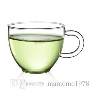 / 80ML 내열 유리 찻잔과 접시 커피 우유 유리 컵 머그잔 특별 판매 G0137